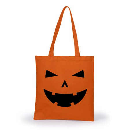 Crazy Dog TShirts - Happy Tooth Pumpkin Face Halloween Tote Bag Jack O Lantern Carving - Happy Halloween Pumpkin Design