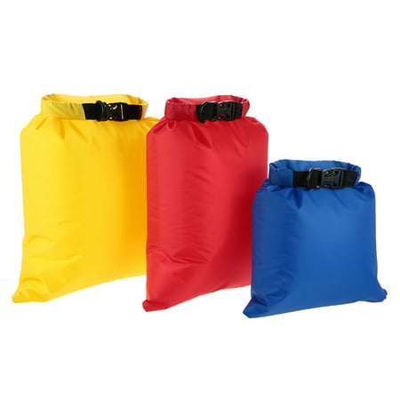 Lixada Pack of 3 Waterproof Bag 3L+5L+8L Outdoor Ultralight Dry Sacks for Camping Hiking