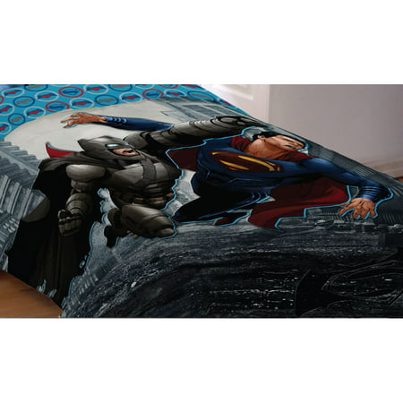 Superman Full Comforter (Batman Vs Superman World's Finest Reversible Twin or Full Comforter, 1 Each )