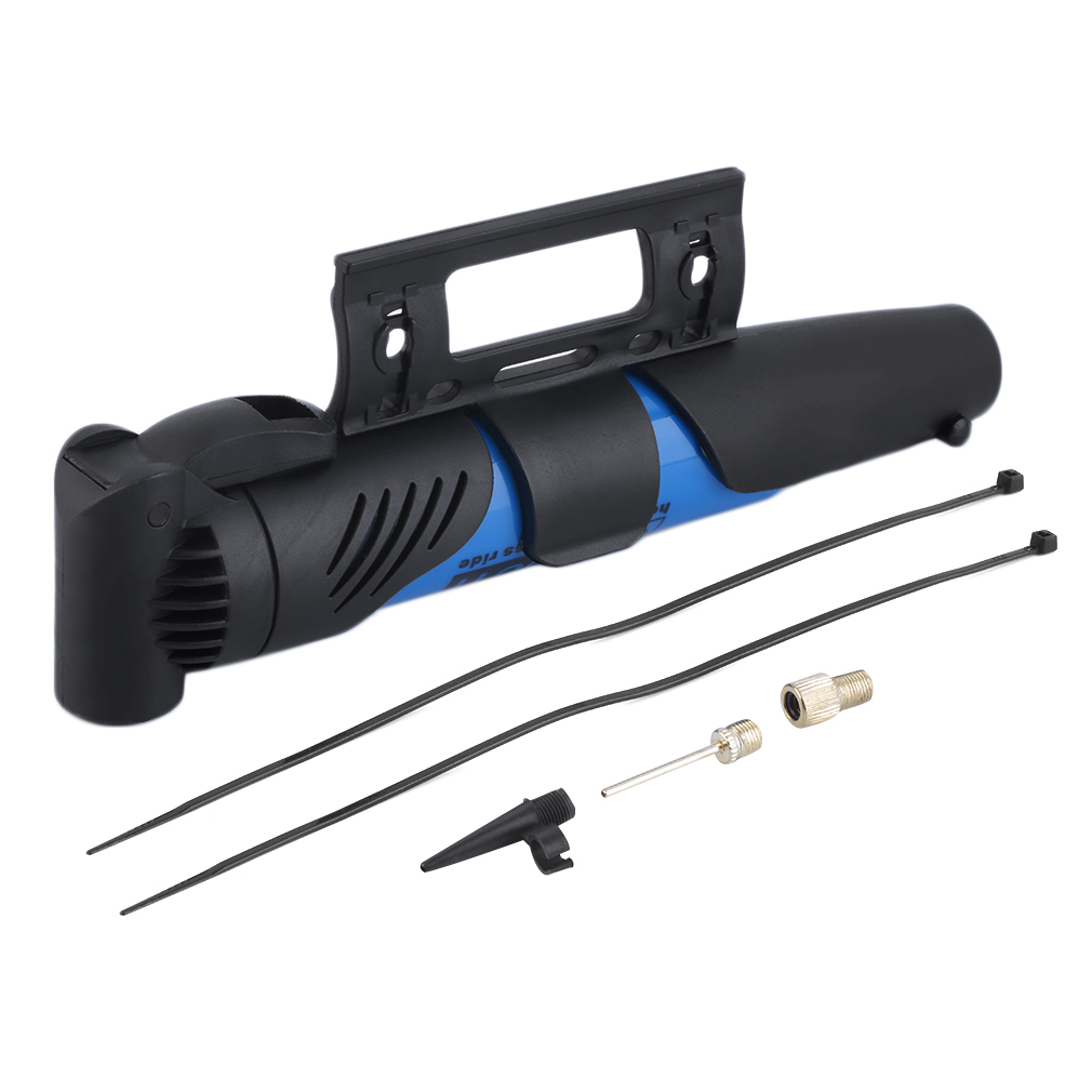 Portable Lightweight Bicycle Bike Cycle Compact ABS Plastic Pump Valves Tyre Tire Tube Inflator with Telescopic Action