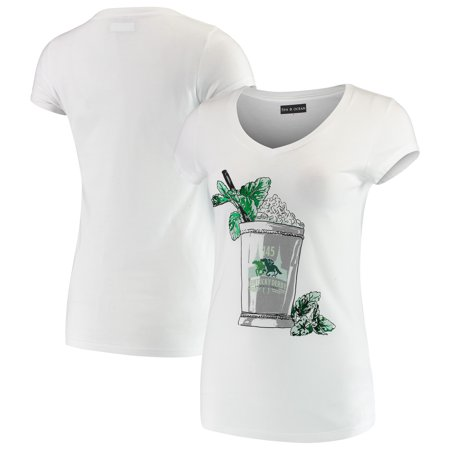 5th & Ocean by New Era Women's Kentucky Derby 145 Foil Mint Julep T-Shirt - White