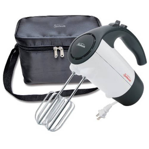 Sunbeam Mixmaster Hand Mixer with Retractable Cord and Storage Bag