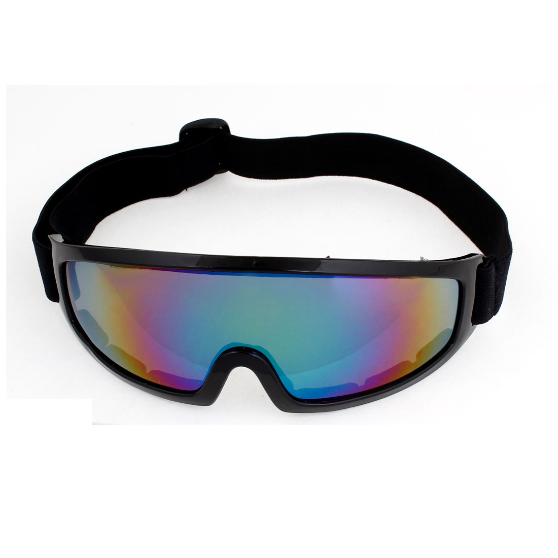 Unisex Outdoor Sports Colorful Lens Black Rim Ski Goggles Eyeglasses Eyewear