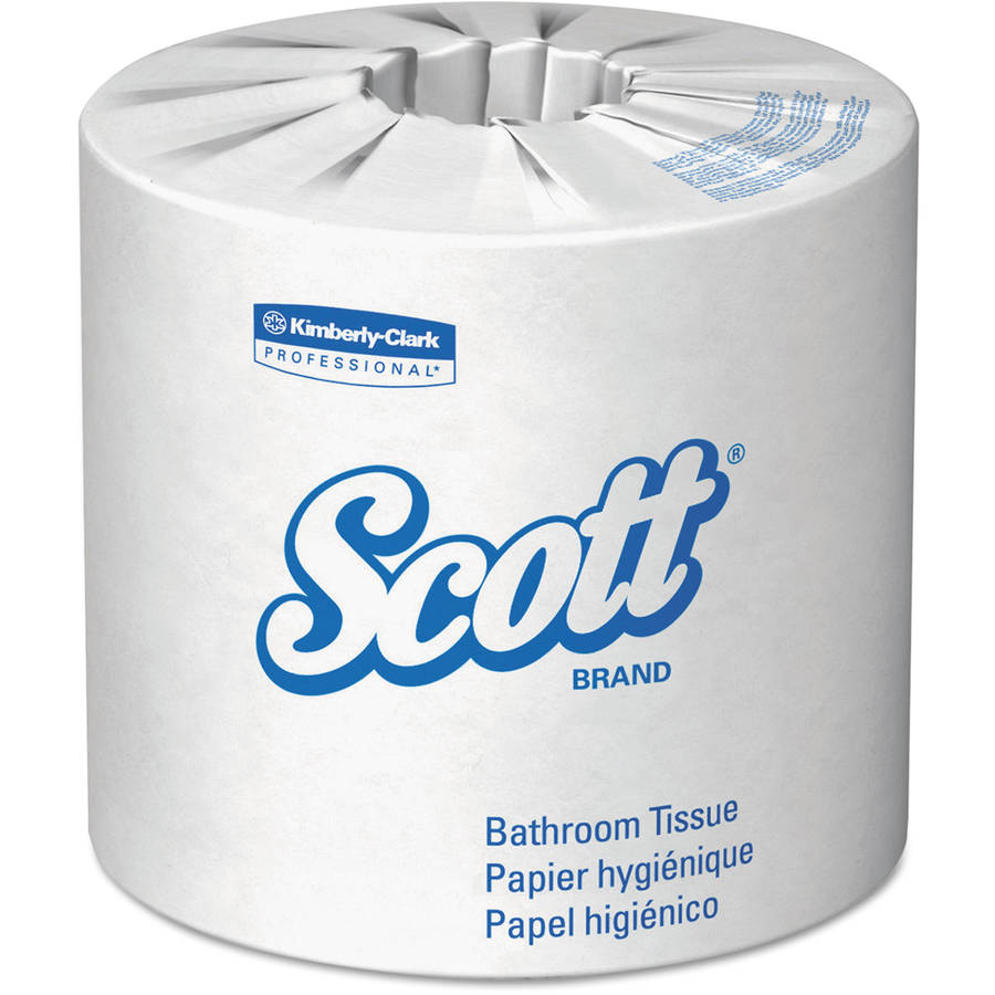 Kimberly-Clark Professional Scott 100 Percent  Recycled Fiber Two-Ply Bathroom Tissue, 550 sheets, 80 ct