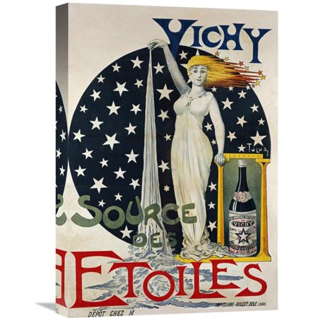 Global Gallery Vichy  Source Des Etoiles Vintage Advertisement On Wrapped Canvas