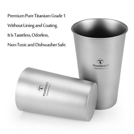 Titanium Single-Wall and Double-Wall Beer Cup Set 300ml 10oz 500ml 17oz - image 6 de 7