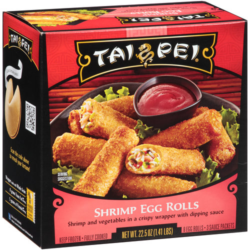Tai Pei Shrimp Egg Rolls, 8 count, 22.5 oz.