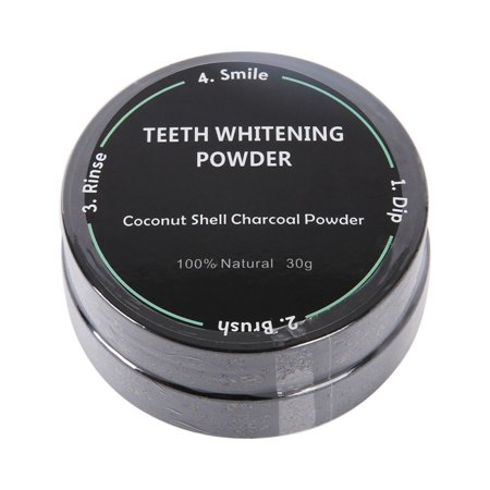 Teeth Whitening Charcoal Powder made from Activated Organic Coconut Shell – Eliminates Bad Breath, Coffee & Tea Stains, Oral - Coffee Tea Stains