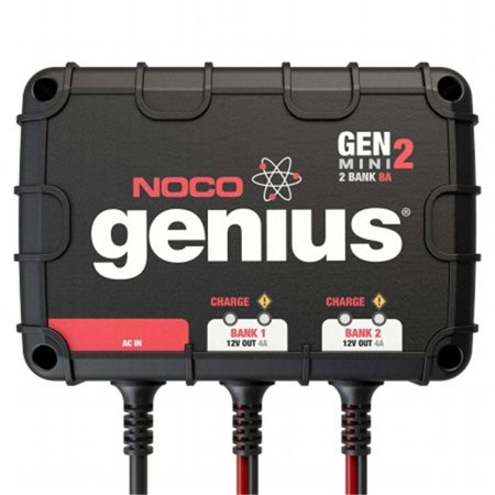 NOCO Genius GENM2 8 Amp 2-Bank On-Board Battery Charger Car Battery Charger Set