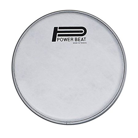 Power Beat Drum Drum Head Imitation Lamb Suede Drum Head 0.188mm Collar /0.5''- For Darbuka/Doumbek Sombaty size (White Fabric)  (8.75'' - Classic Size)