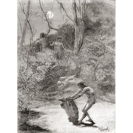 - Sunos Indians hunting freshwater turtles in the Napo River Ecuador in the 19th century From Am PosterPrint