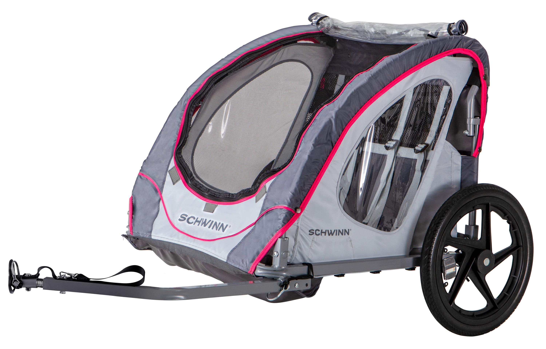 2 passengers Shuttle foldable bike trailer