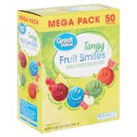 Great Value Fruit Smiles, Tangy, 50 ct, 0.9 oz