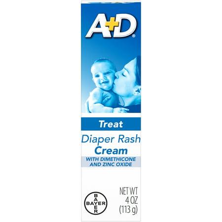A+D Zinc Oxide Diaper Rash Treatment Cream, 4 Ounce Tube