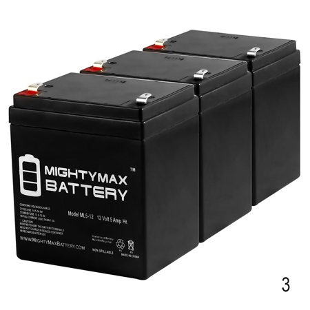 12V 5AH Battery Replacement for Cabelas Wingman Duck Decoy - 3 Pack 12V 5AH Battery Replacement for Cabelas Wingman Duck Decoy - 3 PackML5-12 SLA is a 12V 5AH Sealed Lead Acid (SLA) rechargeable maintenance free battery. Pack of 3Dimensions: 3.54 inches x 2.76 inches x 4.21 inches. Terminal: F1. Listing is for the Battery only. No wire harness or mounting accessories included.SLA / AGM spill proof battery has a characteristic of high discharge rate, wide operating temperatures, long service life and deep discharge recover.