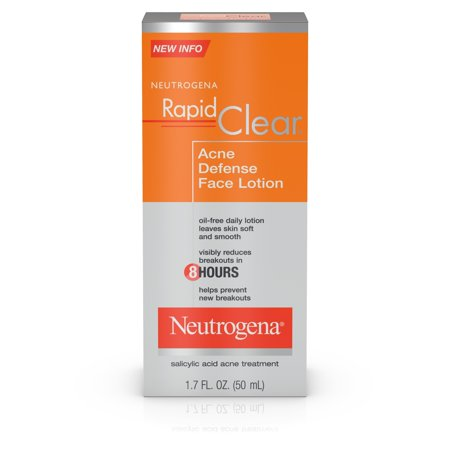 Neutrogena Rapid Clear Acne Defense Face Lotion, 1.7 fl. (Best Acne Treatment For African American Skin)
