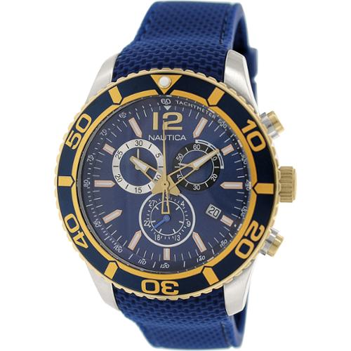 Nautica Men's Nst 09 NAD16502G Blue Rubber Swiss Quartz Watch by Nautica