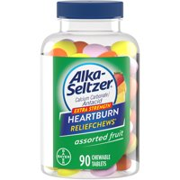 Alka-Seltzer Extra Strength Heartburn Relief Chews Assorted Fruit, 90 Count