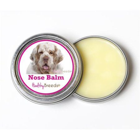 Clumber Spaniel Silhouette Dogs - Healthy Breeds 840235192305 2 oz Clumber Spaniel Dog Nose Balm
