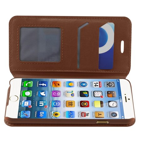 iPhone 6S case, iPhone 6 Case, by Insten Folio Leather Cover Case w/stand/card slot/Photo Display For iPhone 6s 6 (4.7 inch) case cover - image 4 de 5