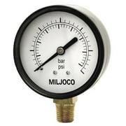 "Miljoco P2508L04 2.5"" GAUGE 1/4 LM 0-60#"
