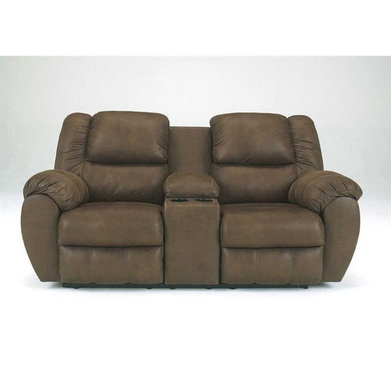Ashley Furniture Quarterback Double Reclining Loveseat in Canyon by Ashley Furniture