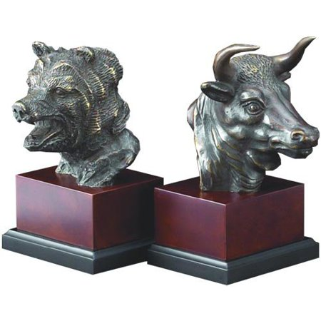 Bull and Bear Head Bookends (Eagle Head Bookends)