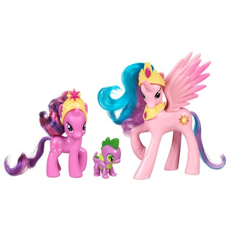 My Little Pony Friendship is Magic 3 Pack Royal Castle Friends With Twilight Sparkle, Spike The Dragon, and Princess CelestiaMy Little Pony Royal.., By Hasbro (Pony Hasbro)