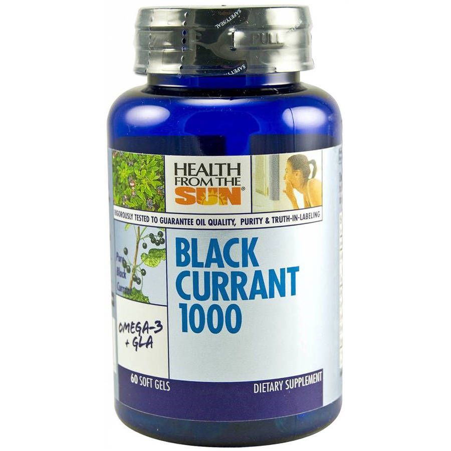 Health From The Sun Black Currant Oil Softgels, 60 CT