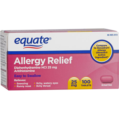 Equate Allergy Tablets, 100ct