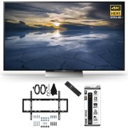 Sony XBR-55X930D 55-Inch Class 4K HDR Ultra HD TV Slim Flat Wall Mount Bundle includes Slim Flat Wall Mount Ultimate Kit and Power Strip with Dual USB Ports