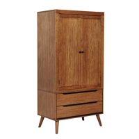 Furniture of America Farrah Mid-Century Armoire, Oak