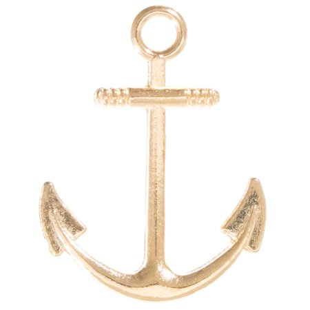 West Coast Paracord Nautical Charms - Anchor and Fish Hook Pendant for Beading and Jewelry Making - Available in Silver, Gold, or Bronze Finish - Fan Pendant Bead