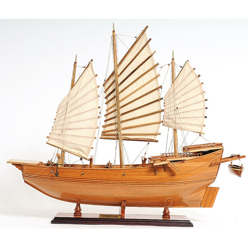 Old Modern Handicrafts Chinese Junk Model Boat by Old Modern Handicrafts