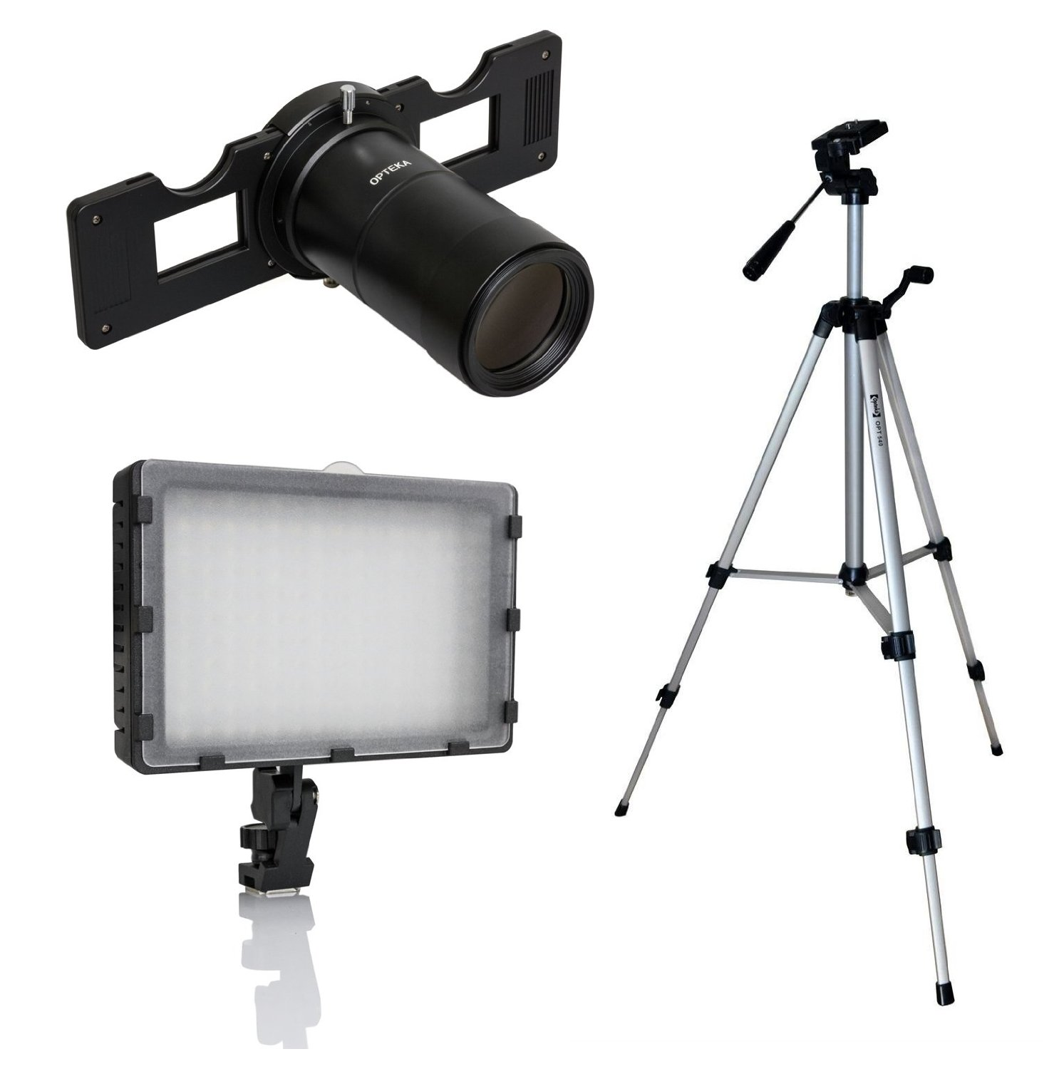 Opteka Slide Copier Studio Lighting Kit for EOS-M Mirrorless Digital Cameras