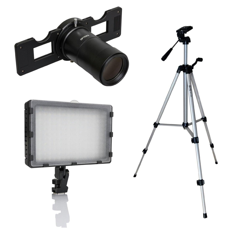 Opteka Slide Copier Studio Lighting Kit for EOS-M Mirrorless Digital Cameras