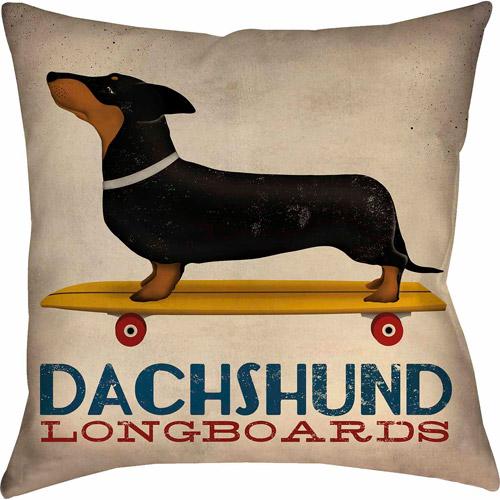 IDG Dachshund Long Board Pillow