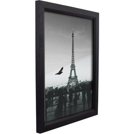 Craig Frames Simple Black Hardwood Picture Frame Ebony Wood Poster Frame
