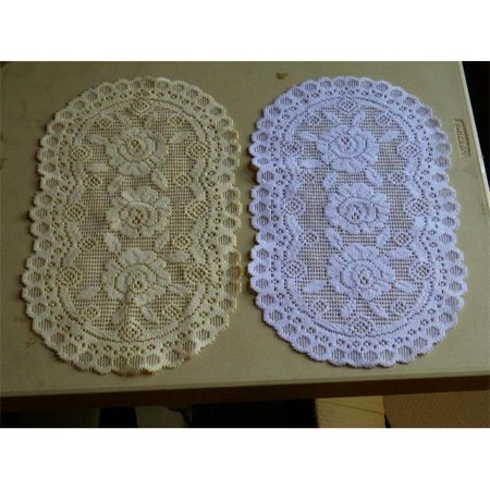 Tapestry Trading 652I1420 12 x 20 in. European Lace Placemat, Ivory