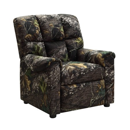 Kid S Camo Recliner With Pushback Reclining Green And