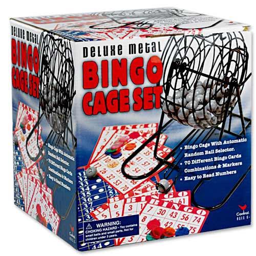 Deluxe Metal Bingo Cage Set 1058