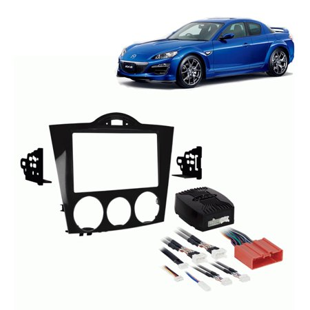- Fits Mazda RX8 2004-2008 Double DIN Aftermarket Harness Radio Install Dash Kit
