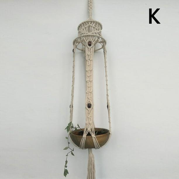 Vintage Macrame Plant Hanger Garden Flower Pot Holder Hanging Rope Basket Decor