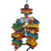 Super Bird Creations SB440 4-Way Play Bird Toy, Multi-Color, Large