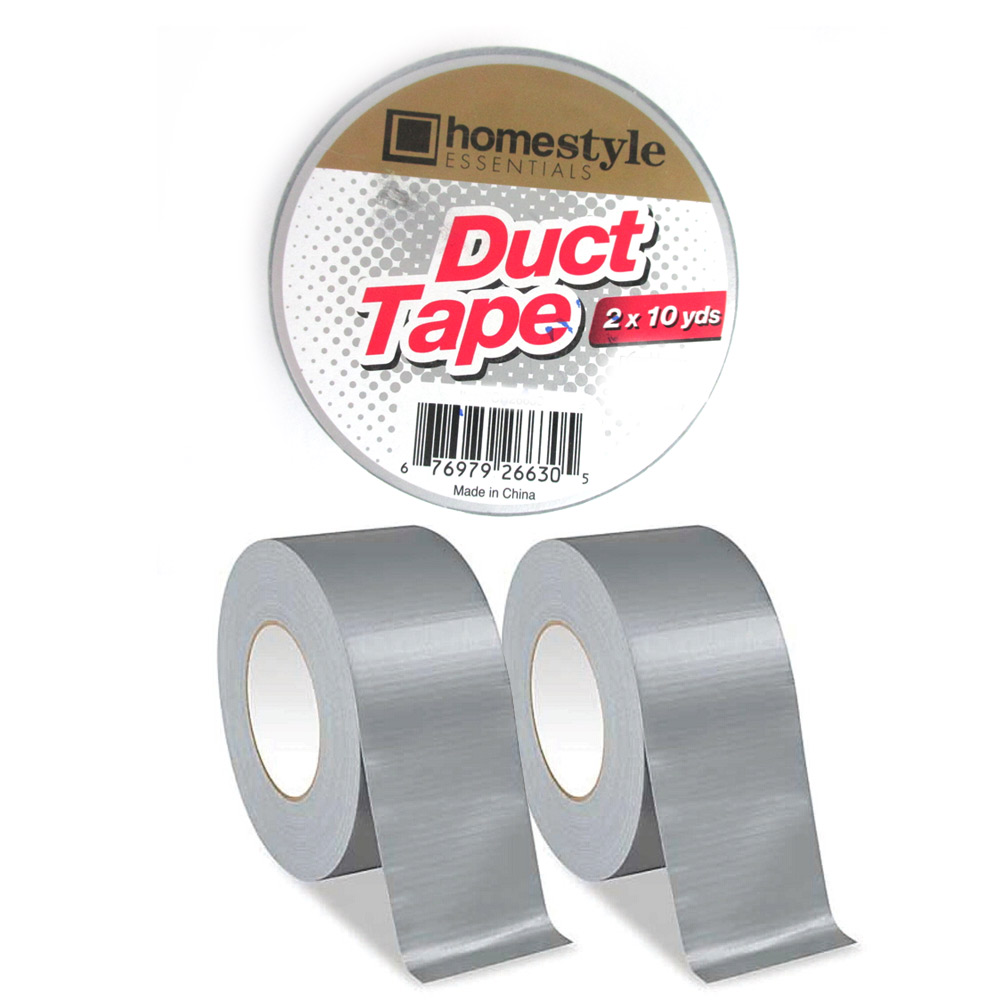 2 Silver Duct Tape Rolls Box Sealing Packaging Packing Carton 1.89 x 10 yds !