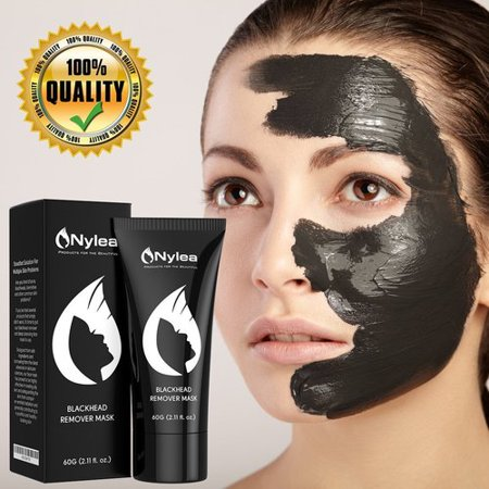 Blackhead Remover Mask [Removes Blackheads] - Purifying Quality Black Peel off Charcoal Mask - Best Mud Facial Mask 60