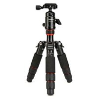 FotoPro X-Aircross 1 Aluminum Tripod Kit, Includes FPH-42Q Dual Action Ball Head and 1/4-20 QR Plate, Orange