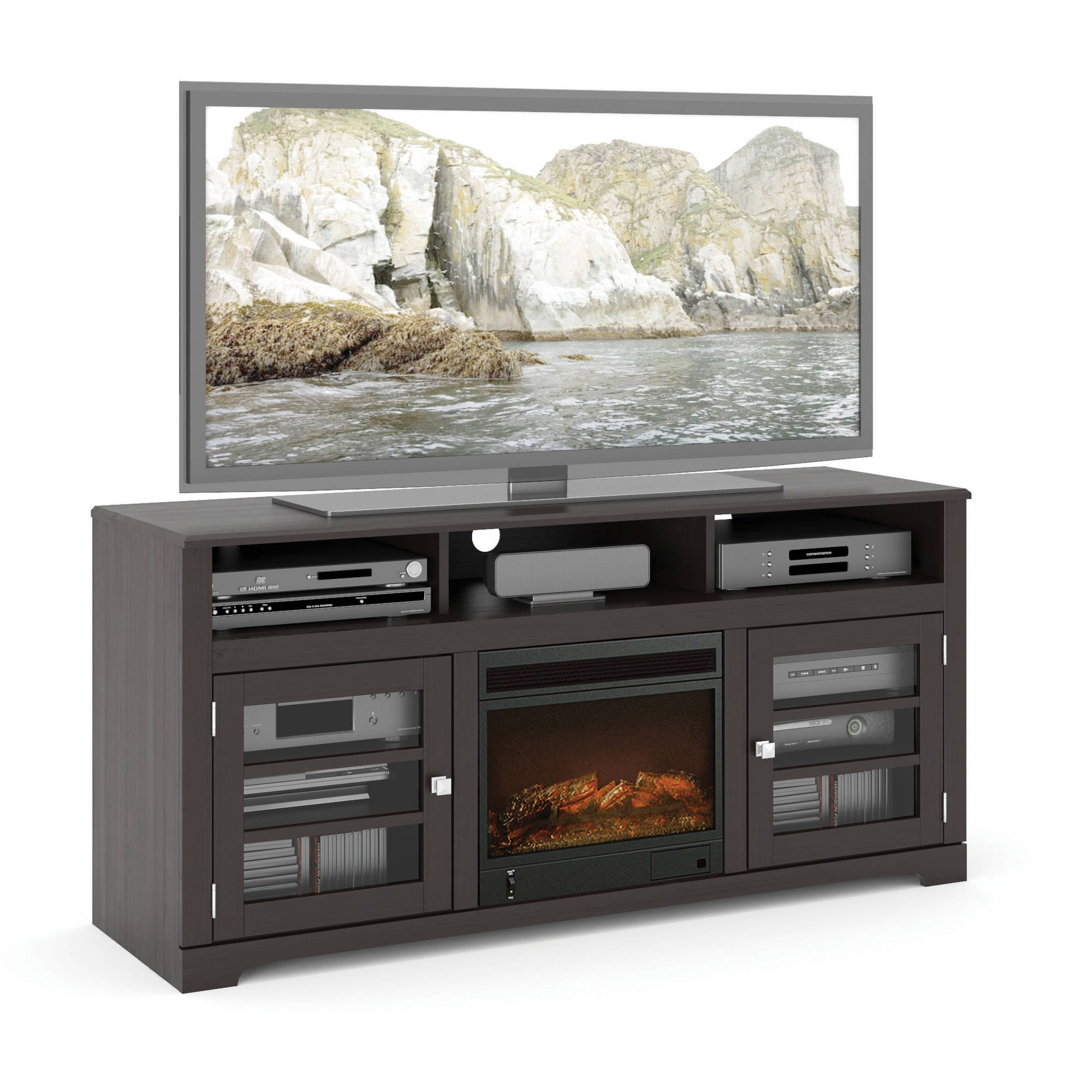 Shop for Fireplace TV Stands in TV Stands & Entertainment Centers. Buy products such as Better Homes and Gardens Crossmill Fireplace Media Console