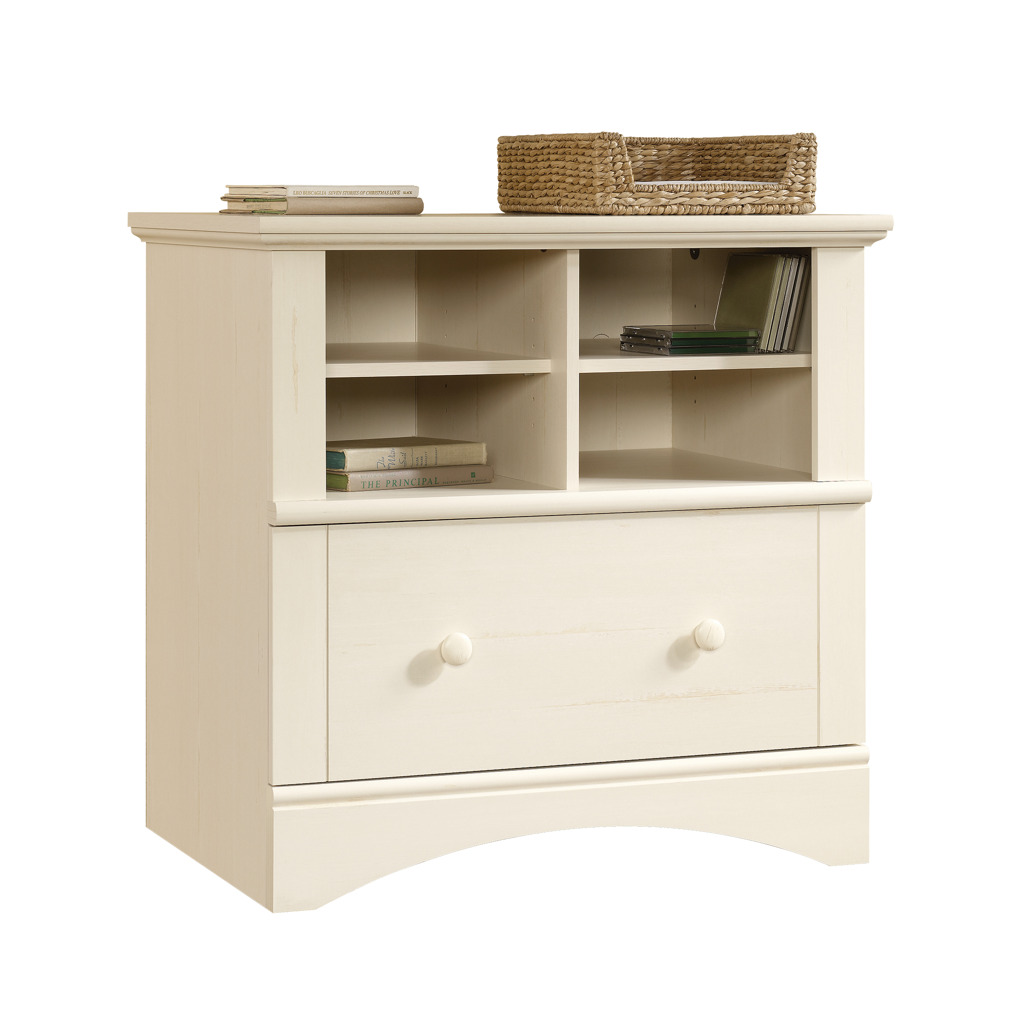 Ordinaire Sauder Harbor View Lateral File, Antiqued White Finish