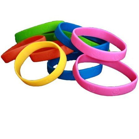 24 Pack Bracelets | Rubber Neon Monkey Wristbands | Pack of 24 | Makes Great Kids Party Favors, Rewards, Gifts. - Neon Bracelets